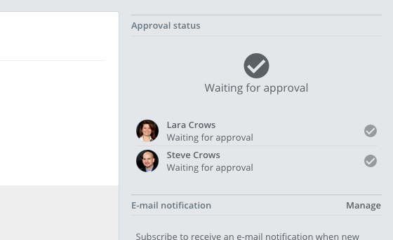 File approval status