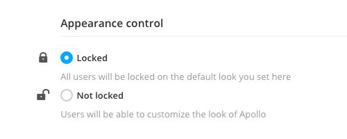 Appearance control lock