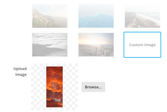 Controls for selecting your own sidebar background