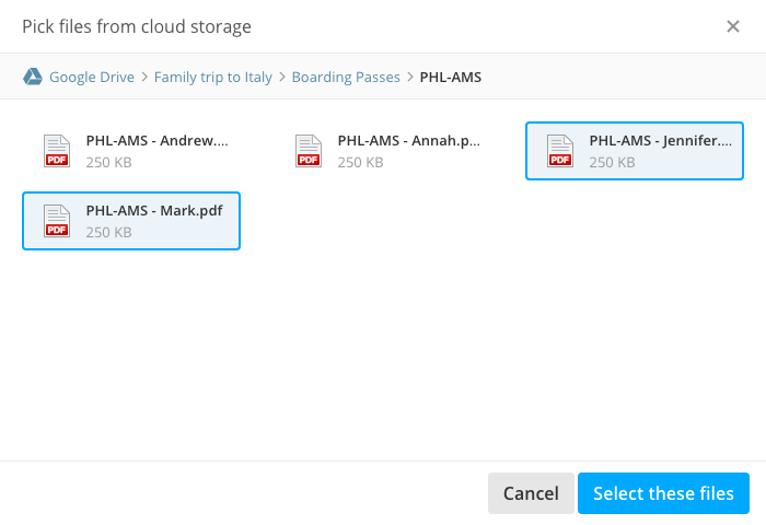 The new cloud storage file picker